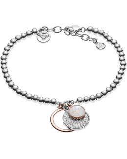 Logo Charms Bracelet Silver