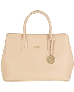 Linda S Tote Leather Beige Chiaro