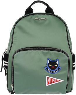 Bomber Backpack Satin Patches Agave
