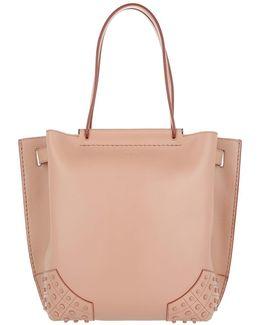 Wave Shopping Bag Calfskin Small Nude
