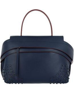 Wave Small Tote Bag Navy