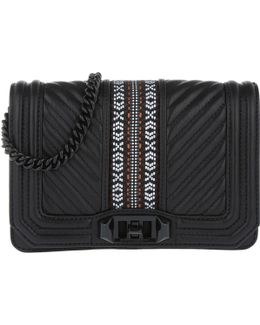 Jacquard Small Love Crossbody Bag Black