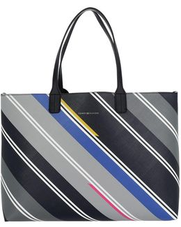 Love Tommy Tote Print Navy