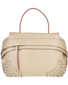 Wave Tote Bag Small Beige