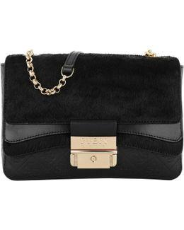 Ginevra Small Crossbody Flap Bag Black