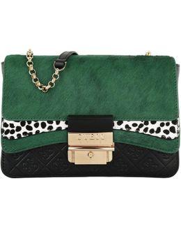 Ginevra Small Crossbody Flap Bag Green