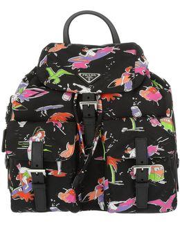 Surfer Print Nylon Backpack