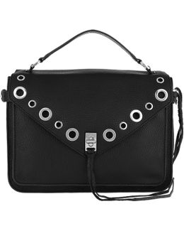 Darren Messenger Bag Leather Black