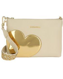Borsa Heart Crossbody Cream Gold
