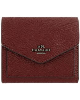 Small Wallet Crossgain Leather Cherry