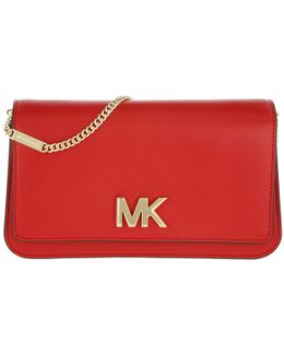 Mott Large Leather Clutch Bright Red