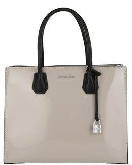 Mercer Lg Conv Tote Leather Cement