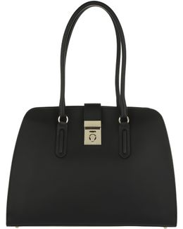 Milano M Tote Leather Onyx