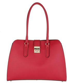 Milano M Tote Leather Ruby