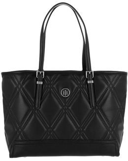 Honey Med Tote Quilted Black