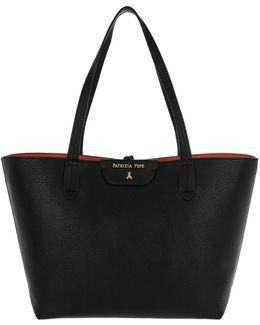 Reversible Shopping Bag Blck/orange