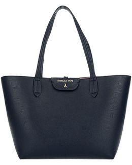 Reversible Shopping Bag Dress Blue/butterfly Rose