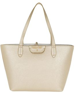 Reversible Shopping Bag New Gold/silver