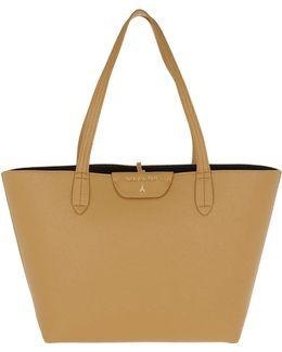 Reversible Shopping Bag Clear Beige/black