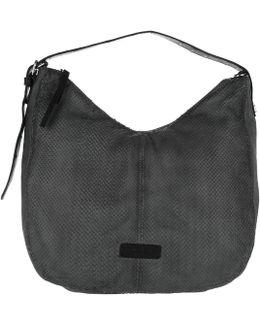 Chatsworth Leather Hobo Bag Oil Black