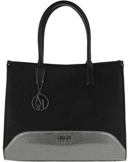 Satchel Bag Logo Charm Long Handle Nero