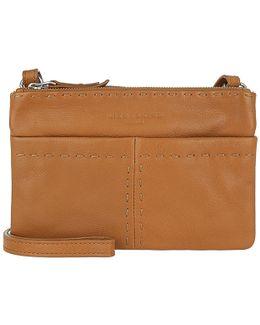 Heavy Stitch Crossbody Bag Cognac