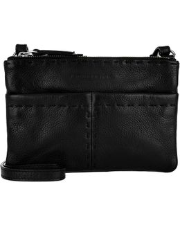 Heavy Stitch Crossbody Bag Oil Black