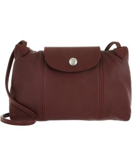 Le Pliage Cuir Messenger Crossbody Bag Red Lacquer