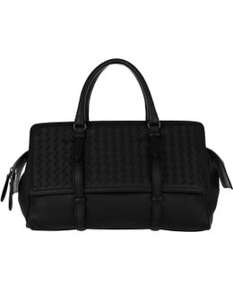 Monaco Intrecciato Medium Bag Nero