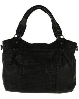 Dominique Woven Sheep Shoulder Bag Black