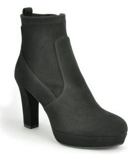 Suede Heeled Ankle Boot