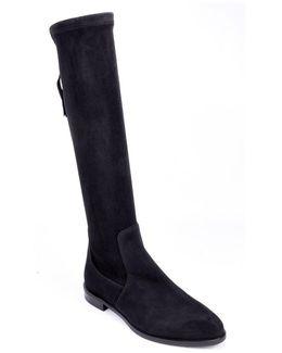 Suede Heel Otk Flat Boot