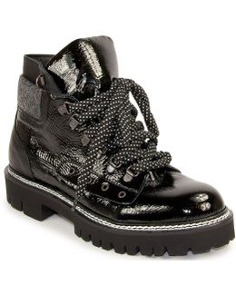 Patent Leather Hiker Bootie