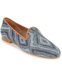 Taylor Malawi Blue Couture Fabric Loafer