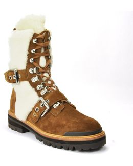 Suede Shearling Boot