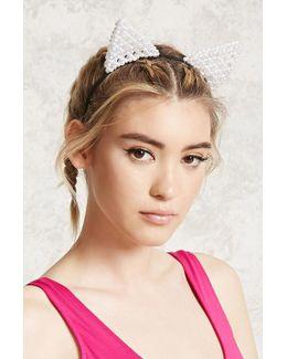 Beaded Cat Ears Headband