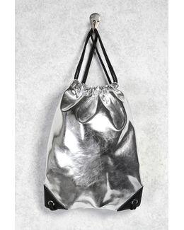 Metallic Drawstring Backpack