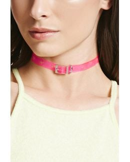 Heart Cutout Jelly Buckle Choker