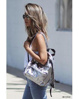 Metallic Textured Backpack