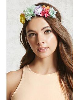 Floral Braided Headband