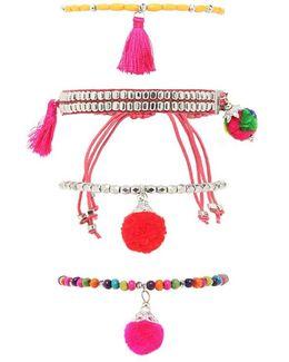 Tassel & Beaded Bracelet Set