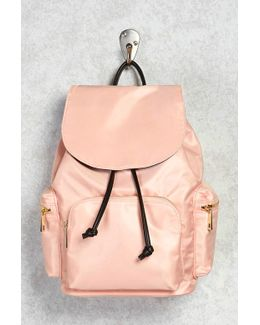 Nylon Flap-top Backpack