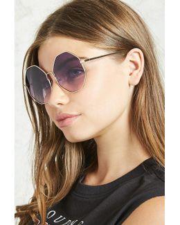 Ombre Round Sunglasses