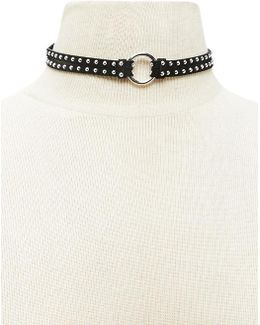 Faux Suede Studded Choker