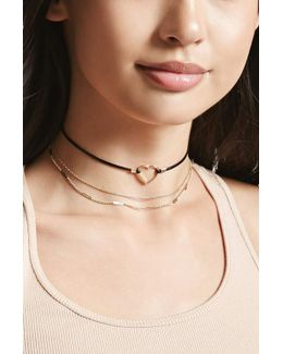 Layered Heart Choker