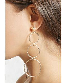 Cutout Drop Earrings