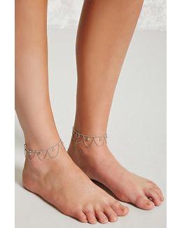 Draped Rhinestone Anklet Set