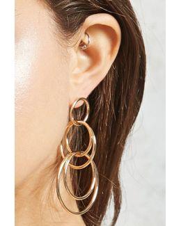 Linked Hoop Drop Earrings