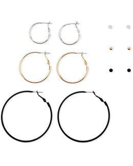 Stud And Hoop Earring Set