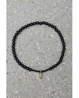 Bead Relief Onyx Bracelet